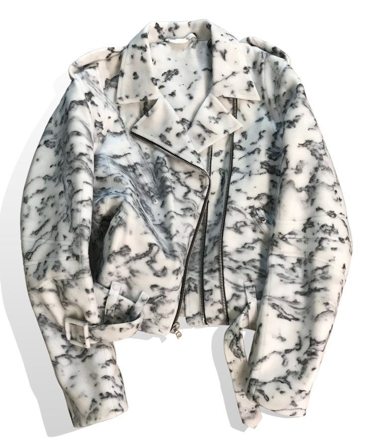 Carrara+marble+zippered+jacket